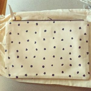 Clare V Large leather Clutch